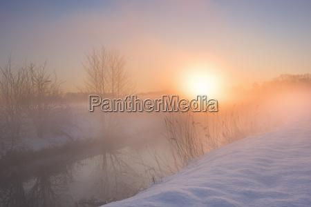 paisagem de inverno com aparencia de