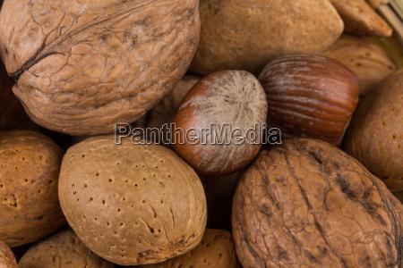 alimento objetos close up estudio amendoins