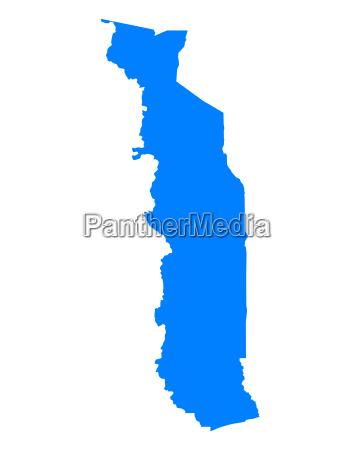 azul grafico ilustracao mapa togo geografia