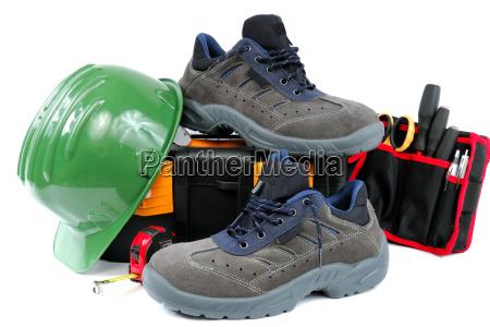 sapatas de trabalho protetoras