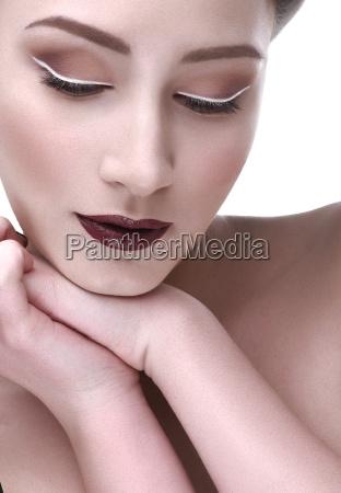 puro atraente sensualidade modelo ato
