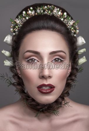 belo agradavel maquiagem brilhante jovens de