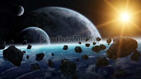 impacto do meteorito no planeta terra