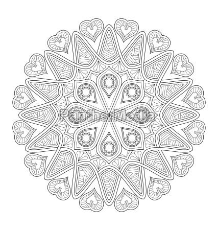 ilustracao de mandala para colorir adulto