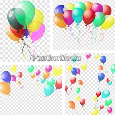 baloes coloridos transparentes
