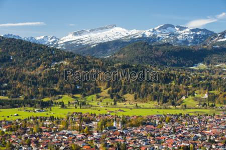 germany bavaria allgaeu view to oberstdorf