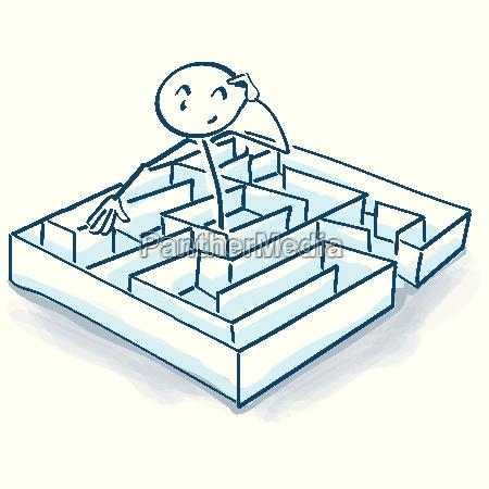 figuras da vara no labirinto e