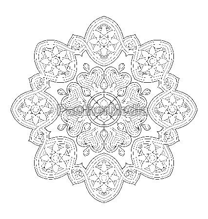 mandala ilustracao para colorir adulto