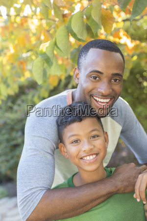 close up portrait of smiling father