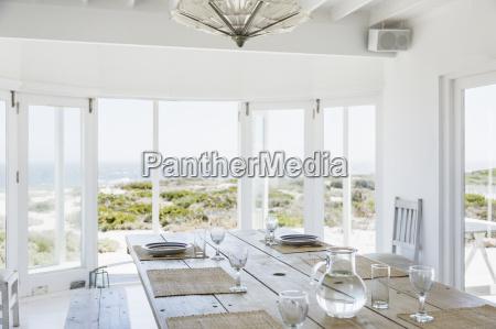 mesa de jantar praia beira mar