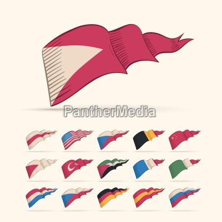 vario jogo nacional da bandeira do