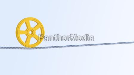 rendicao 3d contrapeso objeto roda na