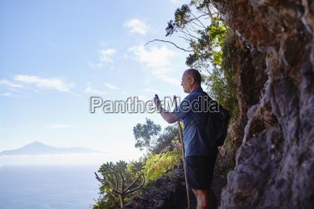 espanha ilhas canarias la gomera caminhante