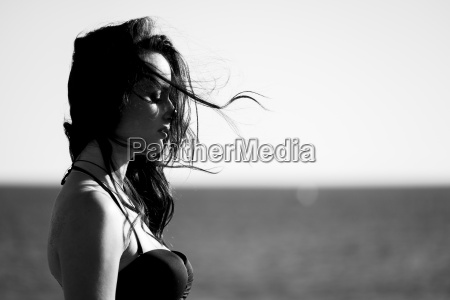 spain tenerife profile of woman with