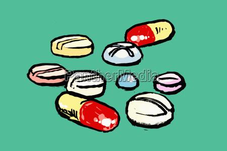 horizontalmente ilustracao proteger horizontal medicina recortar