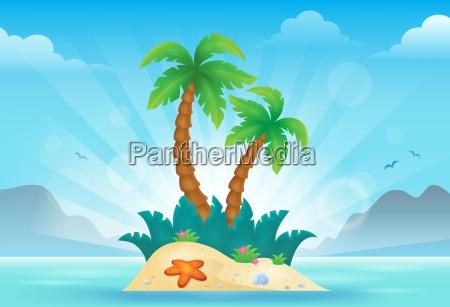 imagem tropical 3 do tema do