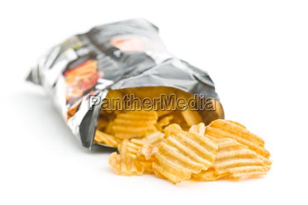 alimento saco salgado frito lanche batatas