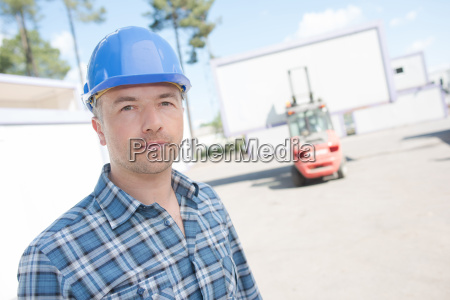 man with helmet on