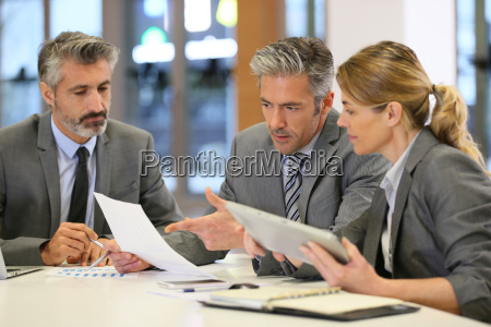 business people in a financial meeting