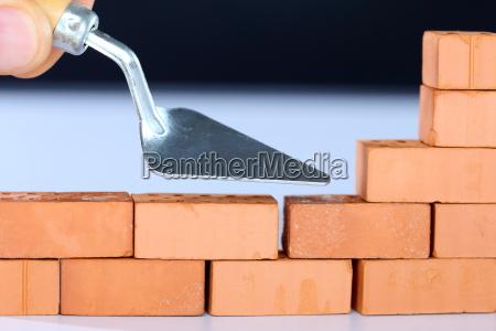 parede simbolos blocos acabamento construir construcao