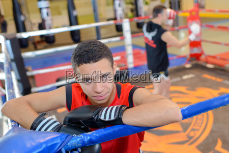 young boxer in the ring