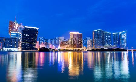 azul cidade metropole moderno asia noite