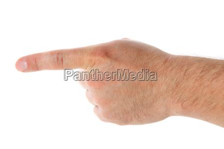 sinal mostrar mao dedo liberado direcao