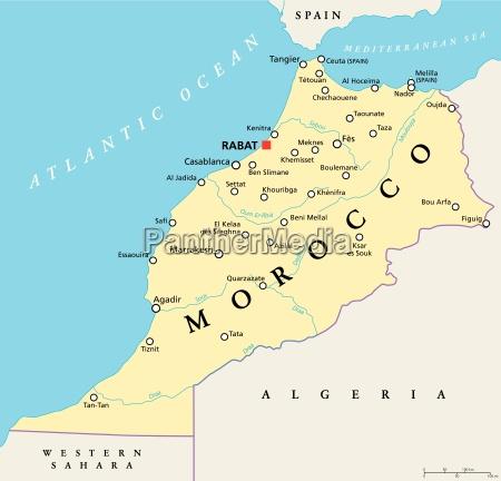 marrocos mapa politico