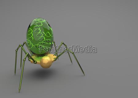 ciencia pesquisa inseto futuro celula futurista