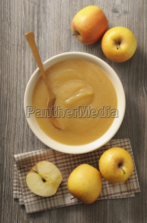 a bowl of apple sauce