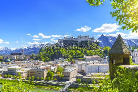 cidade alpes austria cidade velha europa