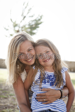 mother with daughter in croatia