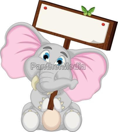 desenhos animados bonitos do elefante que