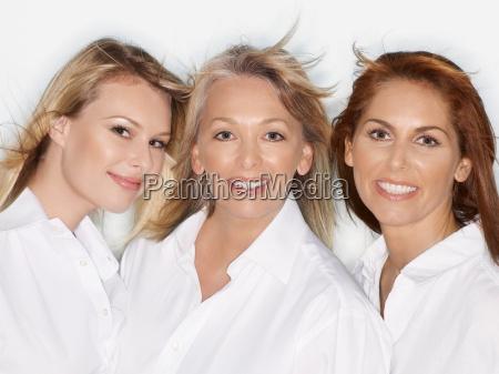 group portrait of three women