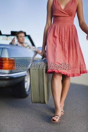 mulher movimento em movimento passeio viajar