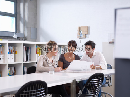group meeting in architect office