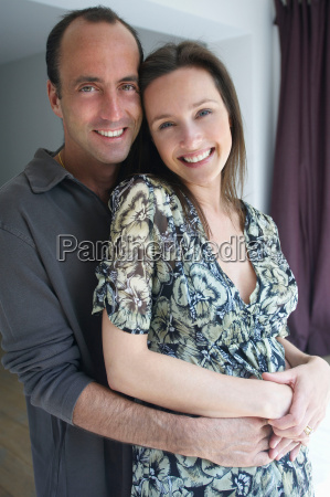 couple smiling portrait