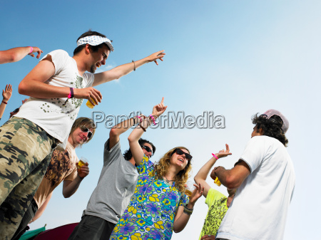group dancing outside