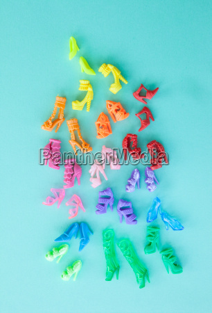 colorido sapatos