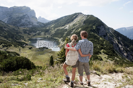 couple overlooking rural landscape