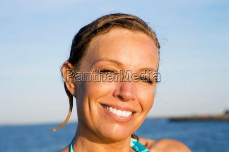 portrait of women wet hair