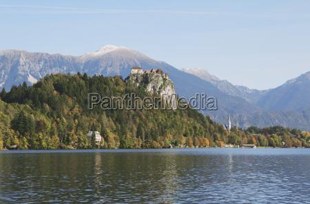 vista da fortaleza lago bled eslovenia