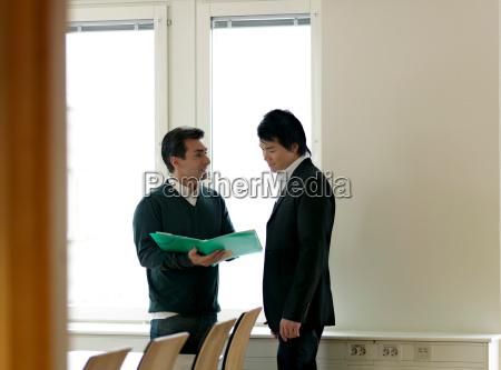 business men with folder