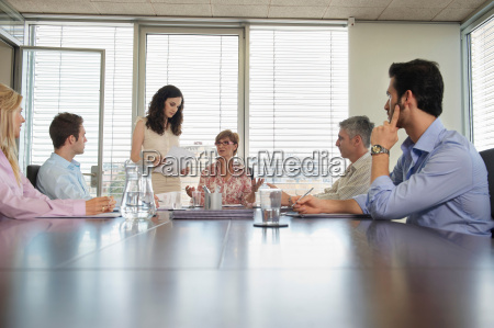 group of people in conference meeting