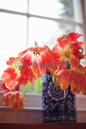 flowers in vases and an english