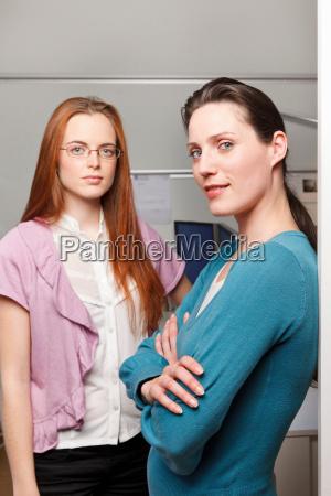 portrait of 2 women in a