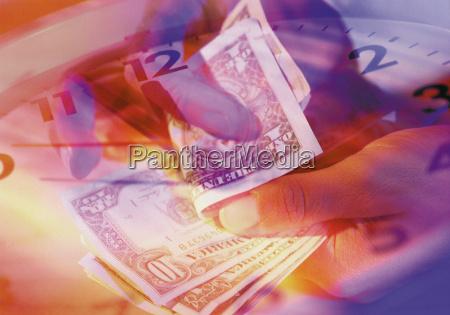 contando dolares