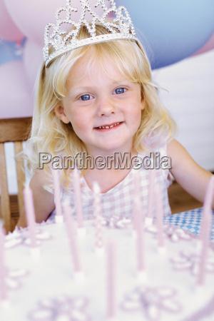 portrait of a birthday girl
