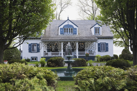 azul casa jardim luz solar fonte