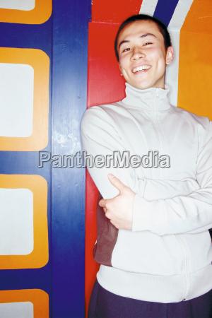 portrait of a man in nightclub